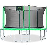 Merax 12FT 14FT Kids Trampoline with Safety Enclosure Net, Basketball Hoop and Ladder - BV Certificated – Basketball Trampoline