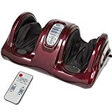 Best Choice Products Therapeutic Shiatsu Kneading and Rolling Compact Electric Foot Massager w/Remote Control, 3 Modes - Burgundy