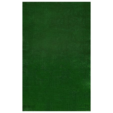 8. Ottomanson Evergreen Collection Indoor/Outdoor Green Artificial Grass