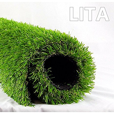 2. LITA Realistic Deluxe Artificial Grass Synthetic Thick Lawn Turf Carpet