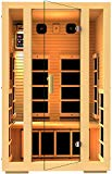 JNH Lifestyles Joyous 2 Person Canadian Hemlock Wood Far Infrared Sauna