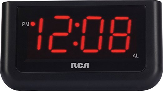 1. RCA Digital Alarm Clock with Large 1.4