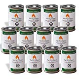 Pacific Decor Indoor/Outdoor Gel Fuel Can, 2-Hour, 4.75-Ounce, 12-Pack