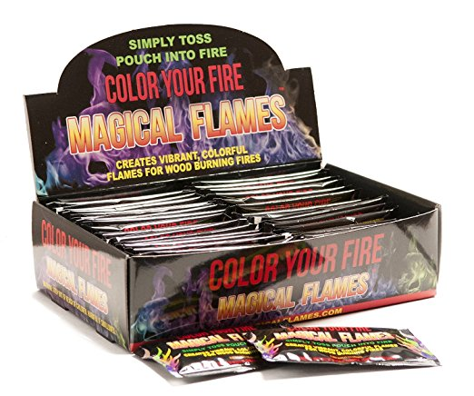 6. Magical Flames: Creates Colorful Flames For Wood Burning Fires
