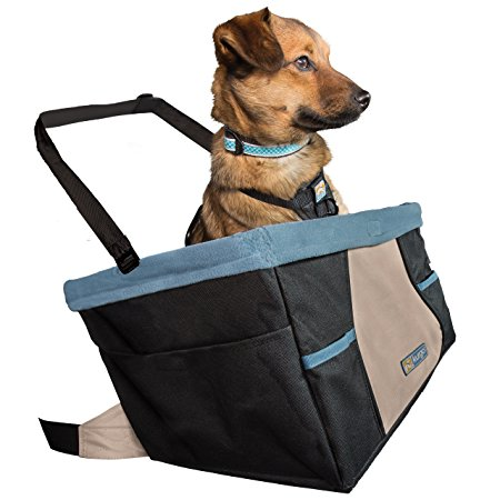 8. Kurgo Skybox Dog Booster Seat for Cars with Seat Belt Tether