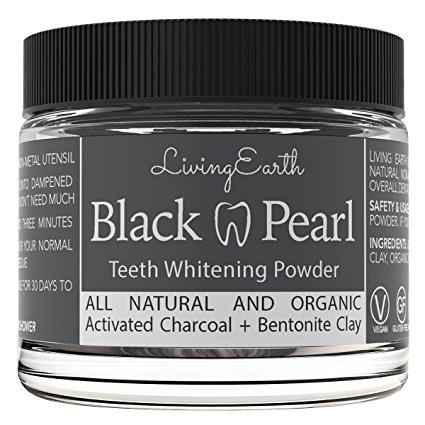 1. Pearls Charcoal Teeth Whitening Powder