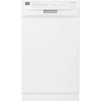 10. Frigidaire FFBD 1821MW Built in Full Console Dishwasher in, White.