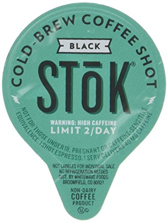 5. SToK Caffeinated Black Coffee Shots, 264-Count Single-Serve Packages