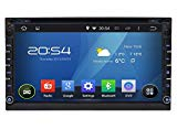 Carfond 6.95 Inch Android 4.4.4 Universal In Dash Double Din 800X480 HD Touch Screen Car DVD Player AM/FM Radio GPS Navigation Navi Stereo Support 3G/Built-in Wifi Bluetooth USB/SD DVR OBD2 AUX 1080P External Microphone as Gifts